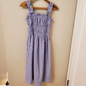 Who What Wear Dresses - Who What Wear striped smocked sundress Size M EUC